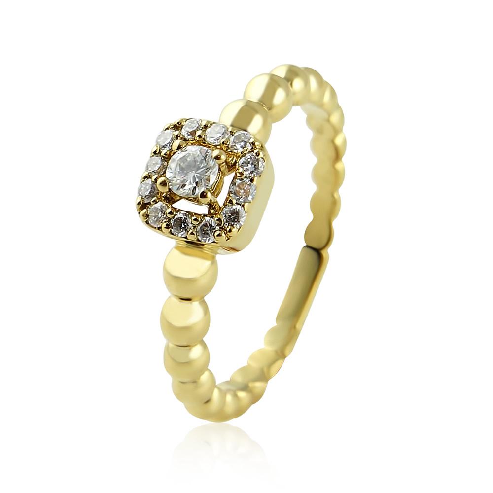 Damenring mit Diamanten aus 750 Gelbgold – 0,26 ct