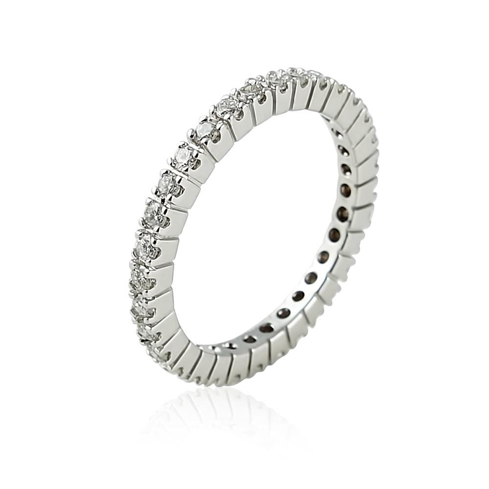 Damenring mit Diamanten aus 750 Weißgold – 0,72 ct