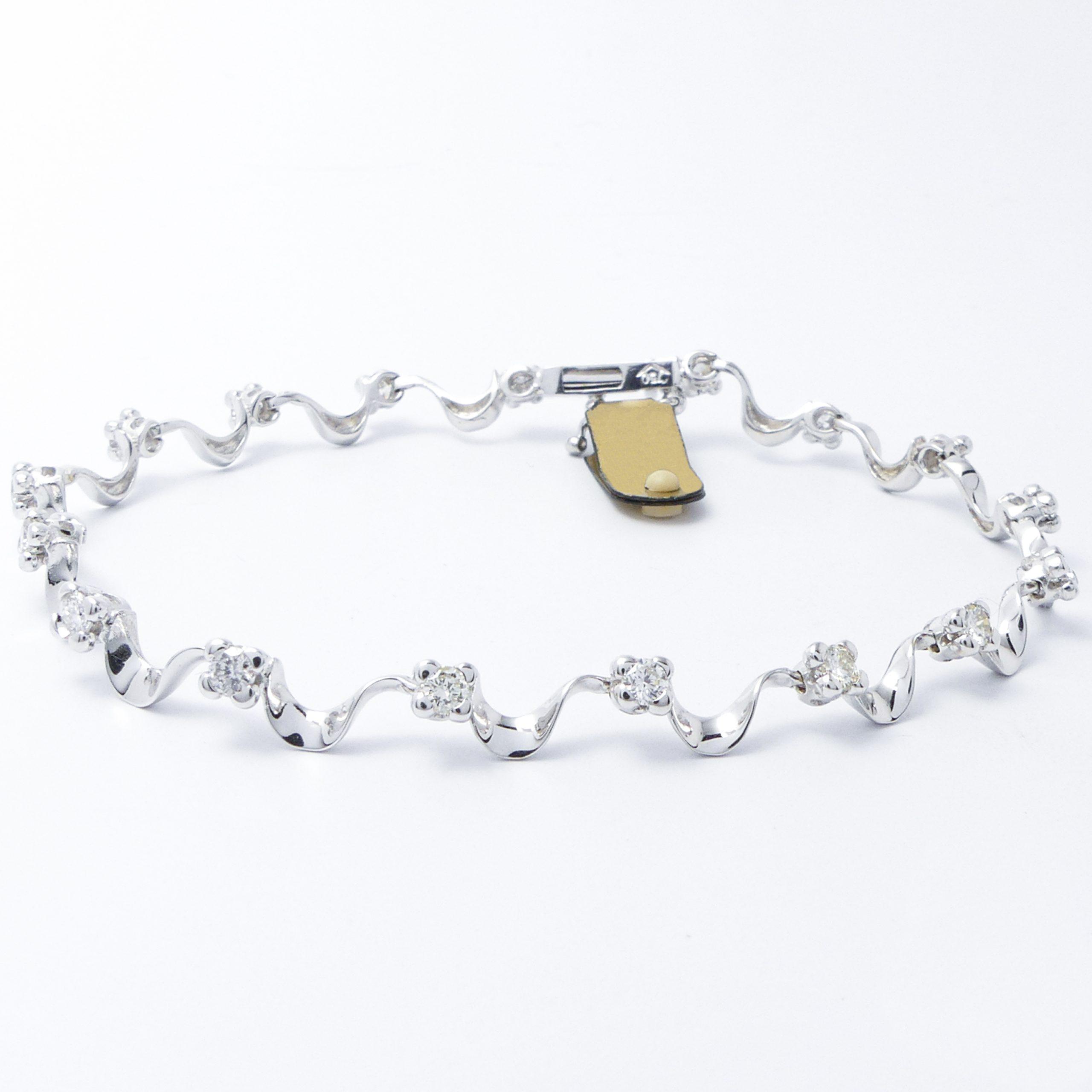 Armband Weißgold 18k mit Brillanten 1,13 ct