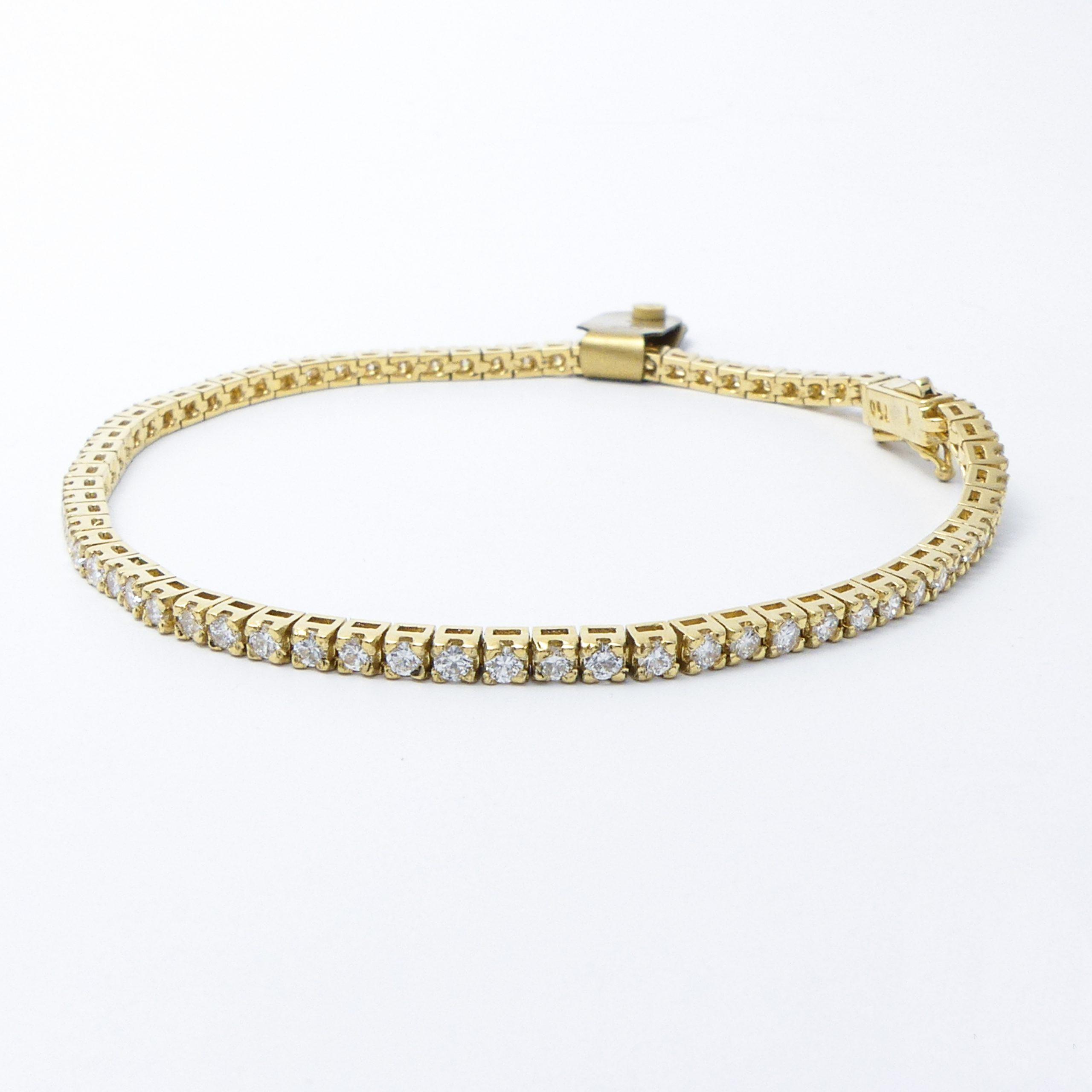 Armband Gelbgold 18k mit Brillanten 2,0 ct